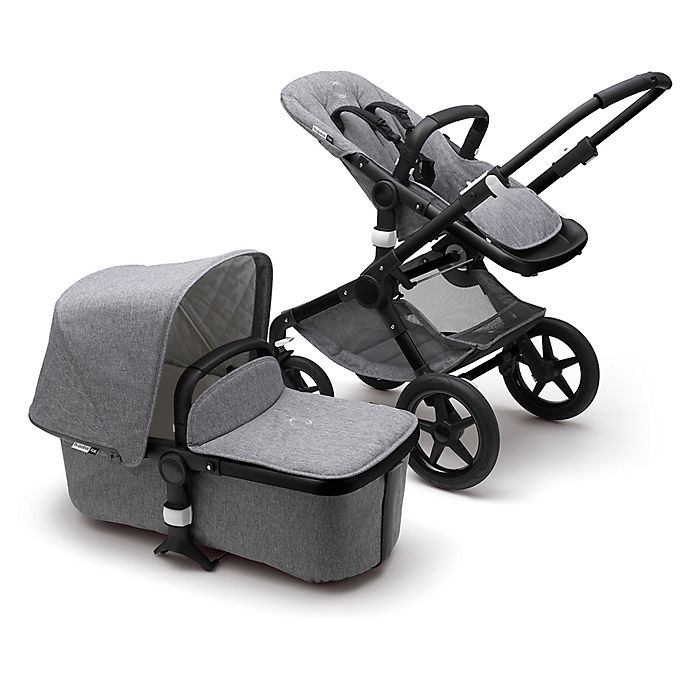 Alternate image 1 for Bugaboo Fox Classic Complete Stroller in Black/Grey Melange