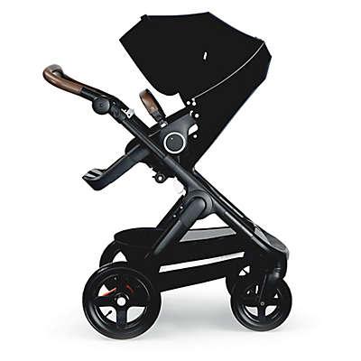 Stokke® Trailz™ Black Frame Stroller with Brown Handle