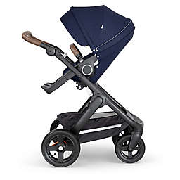 Stokke® Trailz™ Black Frame Stroller with Brown Handle