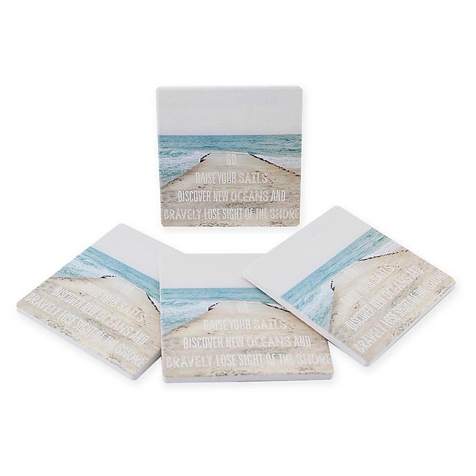 Alternate image 1 for Thirstystone® Dolomite Go Square Coasters (Set of 4)
