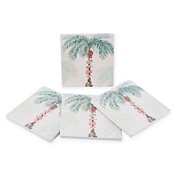 Thirstystone® Dolomite Tropical Dreams Square Coasters Set Collection