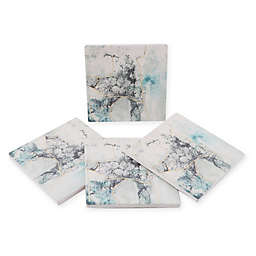 Thirstystone® Dolomite Sea Glass Square Coasters (Set of 4)