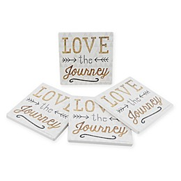 Thirstystone® Dolomite Peaceful Joy Square Coasters (Set of 4) Collection