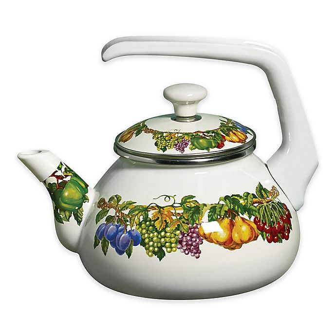 Alternate image 1 for Kensington Garden Porcelain Enamel 2 qt. Tea Kettle