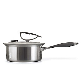 CookCraft™ Tri-Ply Stainless Steel 3 qt. Covered Saucepan