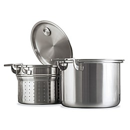 CookCraft™ 8-Quart Tri-Ply Stainless Steel Stockpot Strainer Set