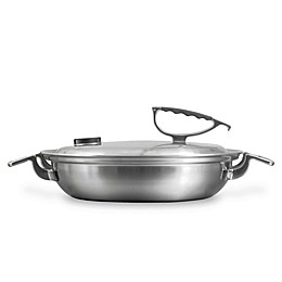 CookCraft™ Tri-Ply Stainless Steel 3 qt. Covered Casserole Pan