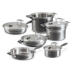 CookCraft™ Tri-Ply Stainless Steel 10-Piece Cookware Set