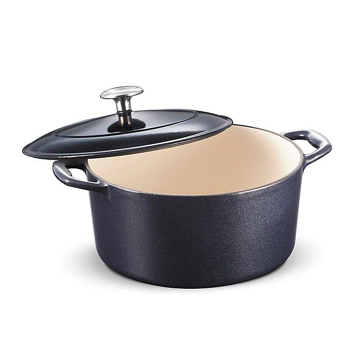 Alternate image 1 for Tramontina® Gourmet 5.5 qt. Enameled Cast Iron Dutch Oven in Dark Blue