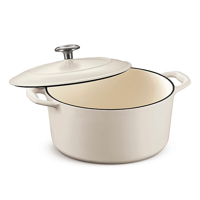 Alternate image 1 for Tramontina® Gourmet 5.5 qt. Enameled Cast Iron Dutch Oven in Matte White