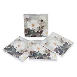 Thirstystone® Dolomite Anemone Square Coasters (Set of 4)