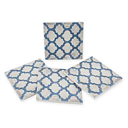 Thirstystone® Dolomite Spectrum Symmetry II Square Coasters (Set of 4)