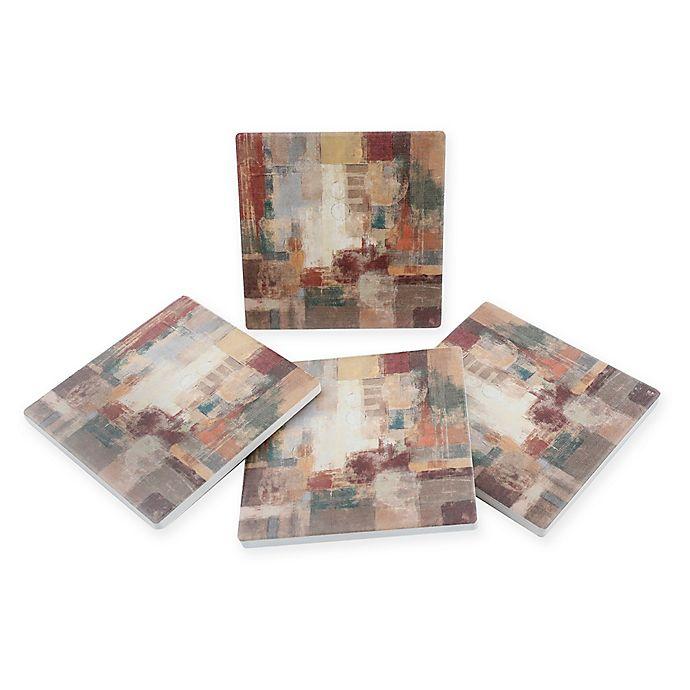 Alternate image 1 for Thirstystone® Dolomite Oriental Trip Square Coasters (Set of 4)