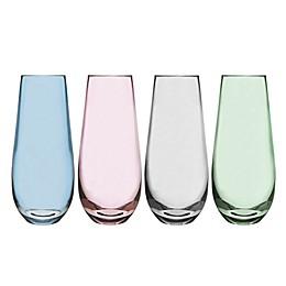 Olivia & Oliver™ Madison Multicolor Stemless Champagne Flutes (Set of 4)