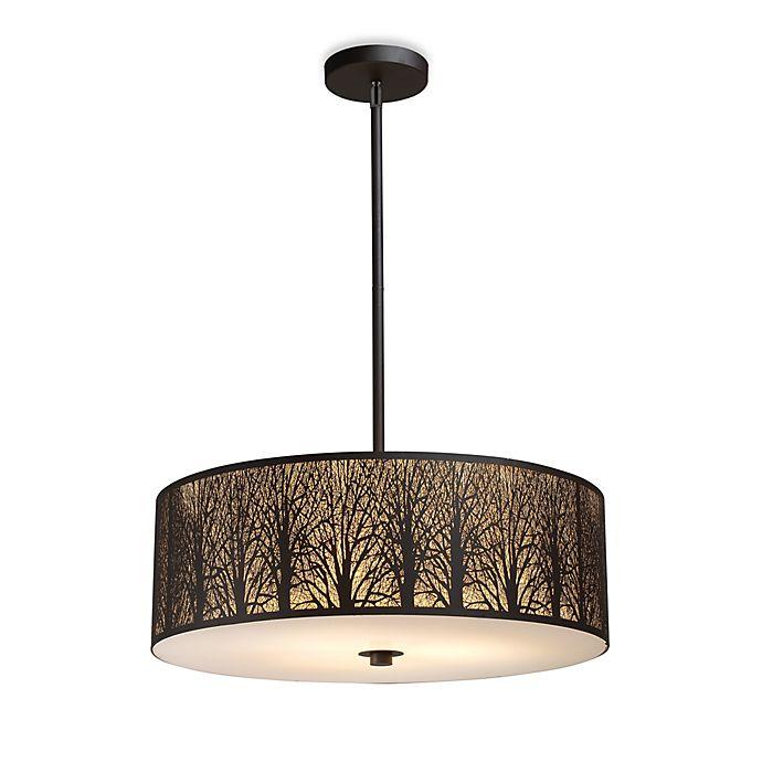 Alternate image 1 for ELK Lighting Woodland Sunrise 5-Light Pendant in Aged Bronze