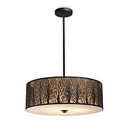ELK Lighting Woodland Sunrise 5-Light Pendant in Aged Bronze