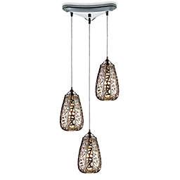 ELK Lighting Nestor 3-Light Pendant Ceiling Lamp in Chrome
