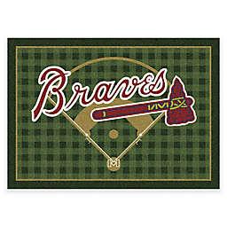 MLB Atlanta Braves Team Field Area Rug
