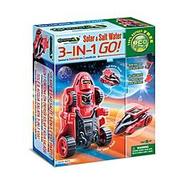 Tedco Toys Greenex Solar & Salt Water 3-in-1 GO! Science Kit