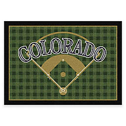 MLB Team Field Colorado Rockies Area Rug
