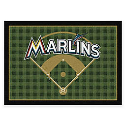 MLB Team Field Miami Marlins Area Rug
