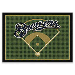MLB Team Field Milwaukee Brewers Area Rug