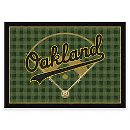 MLB Team Field Oakland Athletics Area Rug