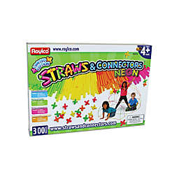 Roylco Straws & Connectors Neon 300-Piece Building Set