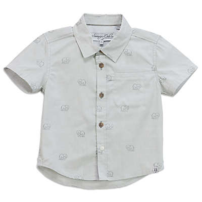 Sovereign Code Elephant Button-Up Shirt in Olive