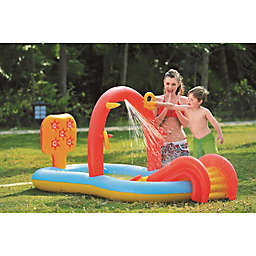 Pool Central Ring Toss Water Slide Pool in Red