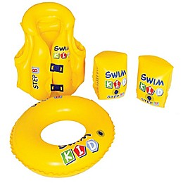 Pool Central 4-Piece Learn To Swim Baby Float Set in Yellow
