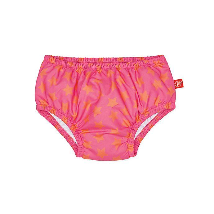 Alternate image 1 for Lassig Size 6M Stars Swim Diaper in Pink