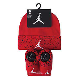 Nike® Jordan Size 0-6M 2-Piece Hat and Bootie Set in Red 42a5b4c1fea