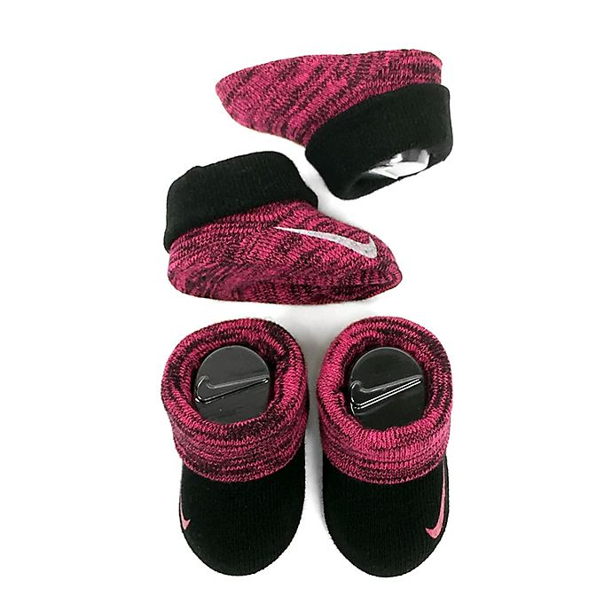 reputable site 4dc98 5efff Nike® Size 0-6M 2-Pack Knit Booties in Pink | buybuy BABY