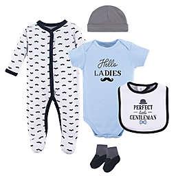 Hudson Baby® 5-Piece Gentleman Layette Set in White