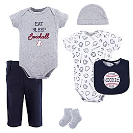 Hudson Baby® 6-Piece Baseball Layette Set in Blue