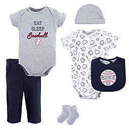 Hudson Baby® Size 9-12M 6-Piece Baseball Layette Set in Blue