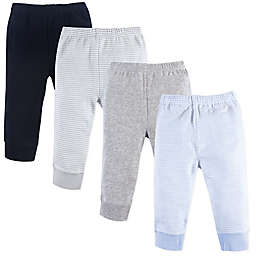 Luvable Friends® Size 0-3M 4-Pack Pants Set in Blue/Grey