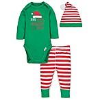 Gerber® Size 0-3M 3-Piece Santa Playette Set