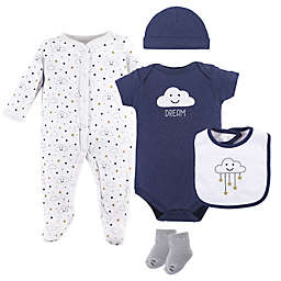 Hudson Baby® 5-Piece Cloud Layette Set in Blue