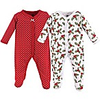 Hudson Baby® Size 3-6M 2-Pack Holly Sleep & Play Footie