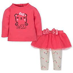 Gerber® Newborn 2-Piece Top and Tutu Legging Set in Pink