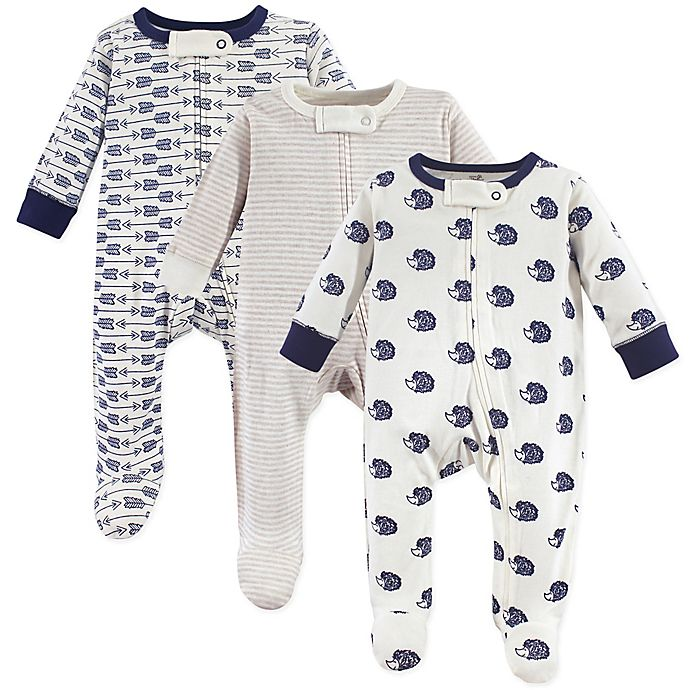 a00dc939c479 Touched by Nature 3-Pack Hedgehog Organic Long Sleeve Bodysuits ...