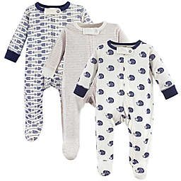 Touched by Nature 3-Pack Hedgehog Organic Long Sleeve Bodysuits