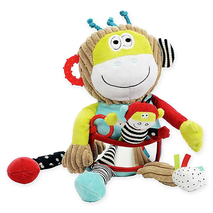 Alternate image 1 for Dolce Play & Learn Monkey Plush Toy