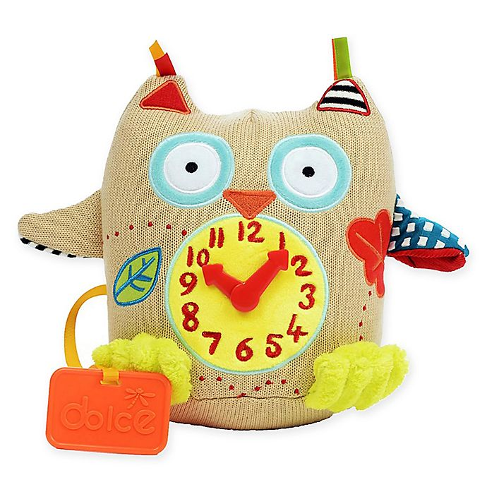 Alternate image 1 for Dolce My First Owl Clock Plush Toy