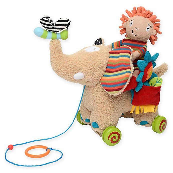 Alternate image 1 for Dolce Pull Along Elephant Plush Toy
