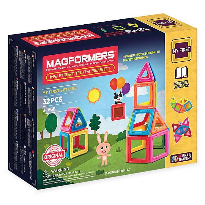 Alternate image 1 for Magformers® My First 32-Piece Playset