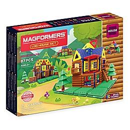 Magformers® 87-Piece Log House Playset
