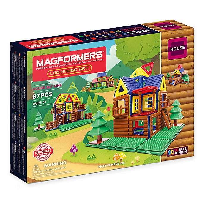 Alternate image 1 for Magformers® 87-Piece Log House Playset